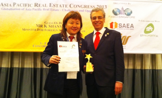 Marie D Lam with FIABCI Chairman