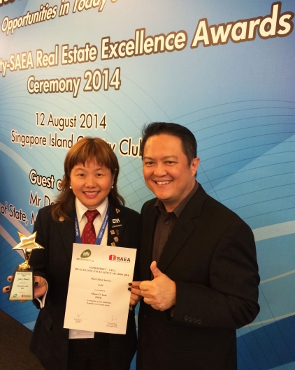 Best Client Service Award 2014 with KEO Eugene Lim